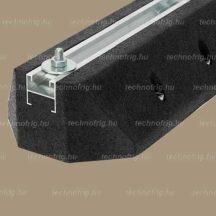Klíma kültéri egység rezgéscsillapító tartótalp,(extrudált gumi) 600 mm beágyazott aluprofillal-