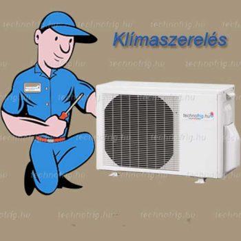 KLÍMASZERELÉS (Standard telepítés 2 méterig) 4,0 kW-ig